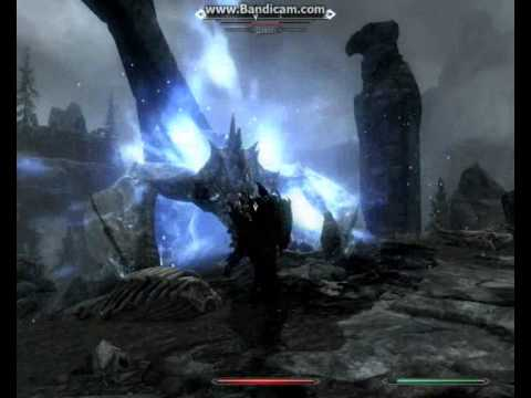 skyrim killing dragon with fist (difficulty master)