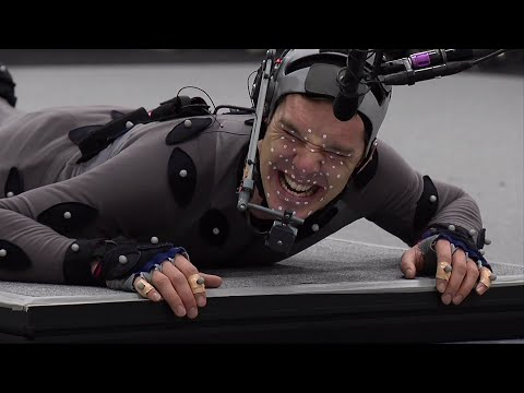 THE HOBBIT: THE DESOLATION OF SMAUG B-Roll Footage - Smaug Motion Capture [HD] Benedict Cumberbatch