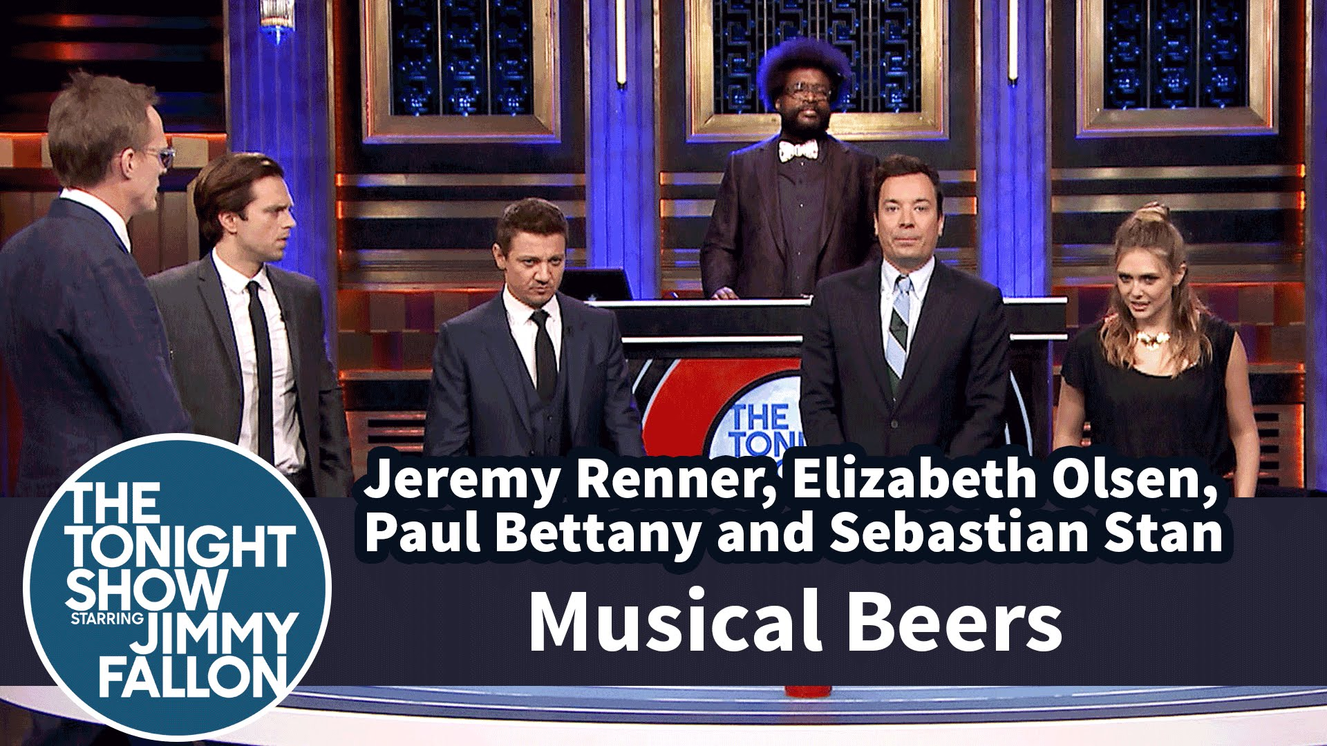 Musical Beers with Jeremy Renner, Elizabeth Olsen, Paul Bettany and Sebastian Stan смотреть онлайн