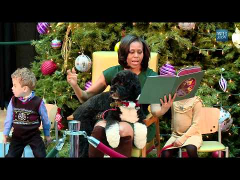 "The First Lady Reads ""'Twas The Night Before Christmas"""