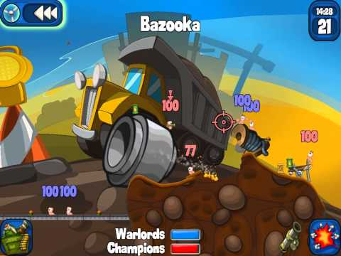 Обзор игры Worms 2 Armageddon на Ipad