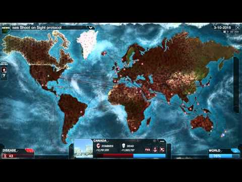 Plague Inc Evolved Necroa Zombi Normal Let's Play Прохождение